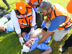 Former Atlantan Arie Pelta (right) is the only physician volunteering as an EMT with United Hatzalah in the Beit Shemesh area.
