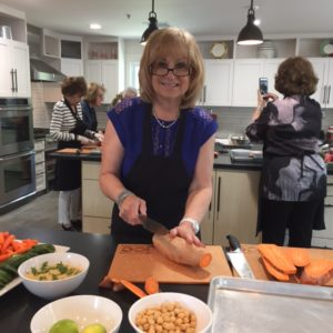 Jackie Granath gets chopping during her 70th birthday.
