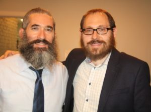 Chabad Intown Rabbis Eliyahu Schusterman (left) and Ari Sollish