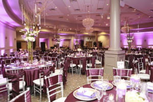 Spring Hall can accommodate 350 people for a seated dinner.