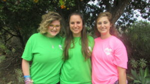 Zoie Wittenberg (left) and Alyssa Levitt (right) are working with Rayna Exelbierd through the StandWithUs internship program.