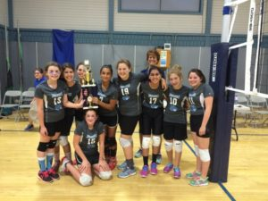 The Atlanta Jewish Academy middle school volleyball team finished first in its division last season.
