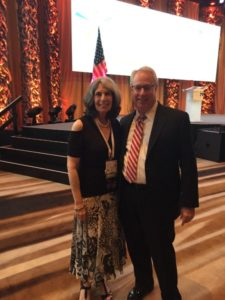 Phyllis Cohen, who is organizing Hadassah Greater Atlanta's centennial observance, joins Georgia Attorney General Sam Olens at the opening plenary of the Hadassah National Convention.