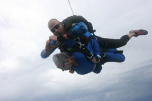 Rose Tucker celebrates her 90th birthday by jumping out of a perfectly good airplane.