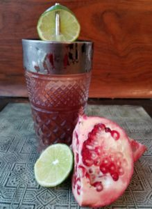 The pomegranate gin fizz features a seasonal fruit ripe with symbolism in Judaism.