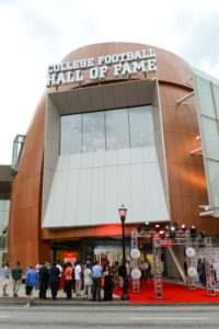 The College Football Hall of Fame features a grand entrance.