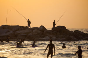 The trail runs along the Mediterranean coast in the north, providing access to Tel Aviv beaches.