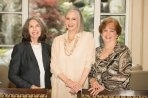 The gala organizers are (from left) centennial chair Phyllis M. Cohen and gala co-chairs Martha Jo Katz and Linda M. Hakerem. (Photo by Chuck Robertson Photography)