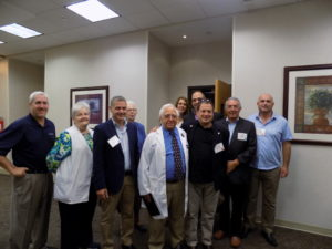 A Western Galilee Cluster delegation visits Emory St. Joseph's Hospital on Sept. 13.
