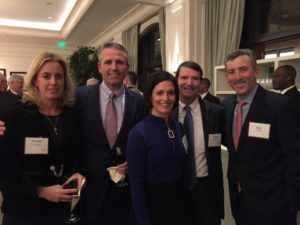 Joining honoree Jim Hannan at the AJC National Human Rights Award dinner are Susan Hannan (left), Lila Hertz, Doug Hertz and Jim Grien (right).