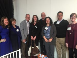 Atlantans attending the Interfaith Opportunity Summit include (from left) Rabbi Malka Packer, Faye Kimerling, Federation CEO Eric Robbins, Laurel Snyder, Mark Silberman, Rabbi Ruth Abusch-Magder, Martin Maslia and Rabbi Loren Filson Lapidus.