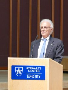 David Blumenthal, speaking at a tribute to Herbert Karp on Oct. 16, talks about being hired from Brown in 1976 to start Emory's Jewish studies program.