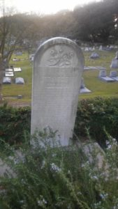 The grave of 7-year-old Rosalie Beekman, the only Natchez resident killed when the Yankees took the city.