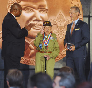 Photo courtesy of the Atlanta Area Council Josiah Benator receives the Whitney M. Young Jr. Service Award from the Atlanta Area Council of the Boy Scouts of America in October.