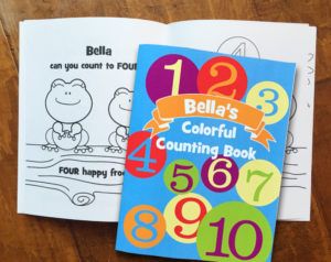 "Robyn Spizman Gerson's ""Colorful Counting Book"" is available personalized with any child's name at Frecklebox.com."