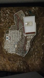 A map of Jerusalem's Old City at the Biblical History Center.