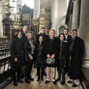 Transatlantic Institute board members, including Merle Horwitz (third from left) and Murray Goldman (right), gather in Europe.