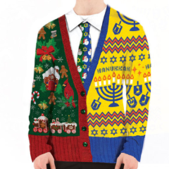 Thiis Merry Jew Year's Eve-ukkah Ugly Chrismukkah T-Shirt/Sweater is one of many products you can buy at ModernTribe.com