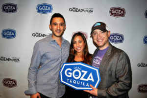 CUTLINE GozaPalooza is back for a third year under the sponsorship of Goza Tequila, led by CEO Jacob Gluck (left), Sales Director Lauren Kaufman and Creative Director Adam Hirsch.
