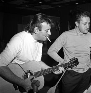 "Bert Berns plays guitar during an early Van Morrison recording session. Berns' story is told in ""Bang!"" on Jan. 26 and Feb. 3 and 11."