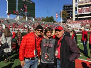 Three generations of Seligs — Scott, Sam and Steve — attend the UGA-Georgia Tech game in November.