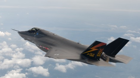 Time to reconsider? The F-35 Joint Strike Fighter (photo credit: Liz Kaszynski/Flash90)