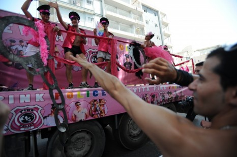 Pinkwashing the occupation? The annual gay parade in Tel Aviv (photo credit: Gili Yaari/Flash 90)