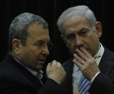 Where have they been all these years? Netanyahu and Barak confer (photo credit: Miriam Alster/Flash90)