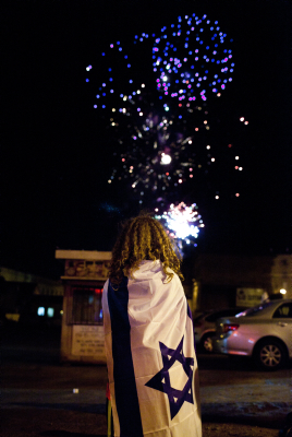Independence Day fireworks in Jerusalem (photo credit: Yonatan Sindel/Flash90)