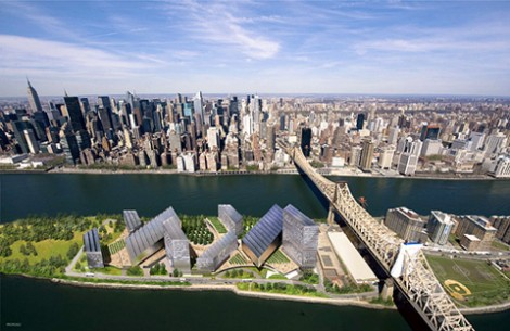 A rendering of the planned Technion-Cornell University campus in New York