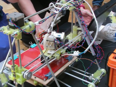 A RepRap 3D printer (photo credit: CC BY-SA osde8info, Flickr)