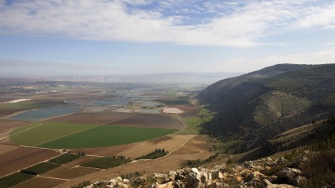 A view of the Jezreel Valley from Mount Gilboa (photo credit: Matanya Tausig/Flash90)