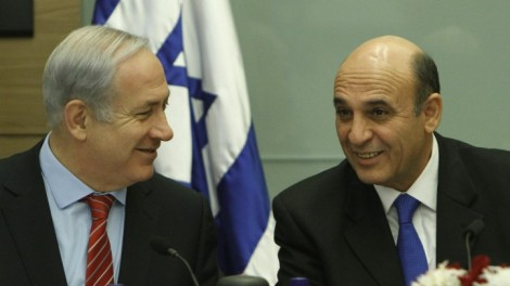 Netanyahu and Mofaz (photo credit: Miriam Alster/Flash90)