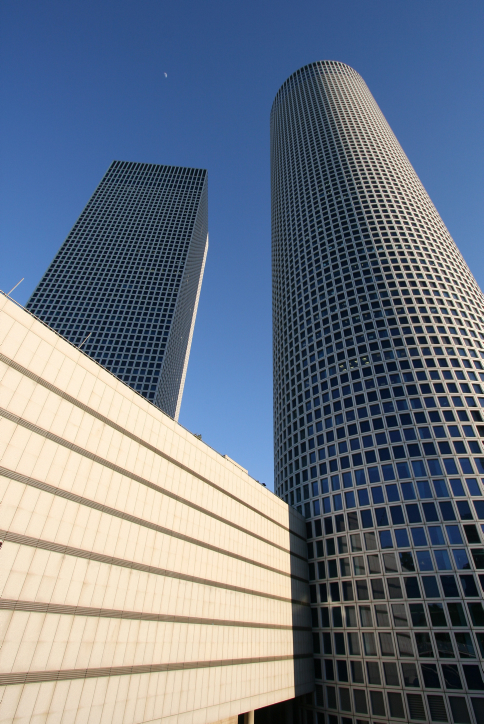 The Azrieli Towers (photo credit: Nicky Kelvin/Flash90)