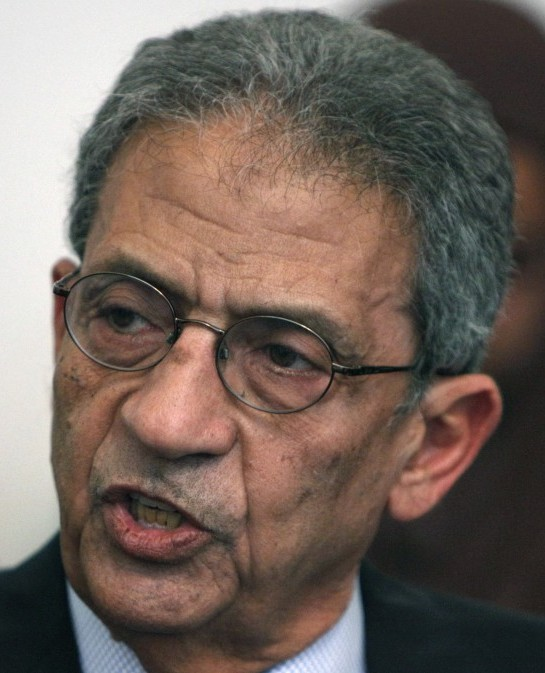 Egyptian presidential candidate Amr Moussa (photo credit: AP/Nasser Nasser)