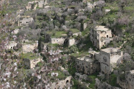 Abandoned homes dot the mountainside in Lifta, just outside Jerusalem. (photo credit: Yossi Zamir/Flash90)