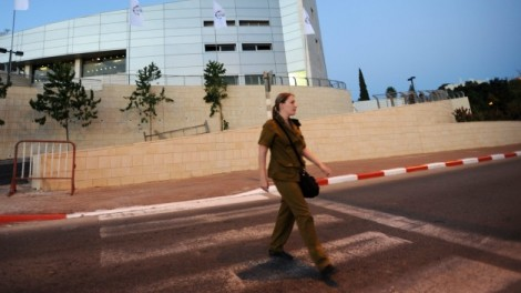 Freeing tomorrow's minds from the occupation? An Israeli soldier in the West Bank settlement of Ariel (photo credit: Gili Yaari/Flash 90)