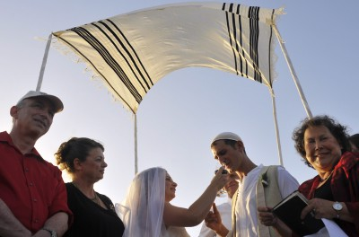 A Reform Wedding in Yafo (photo credit: Serge Attal/Flash90)