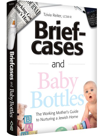 The cover of Tzivia Reiter's book, 'Briefcases and Baby Bottles'