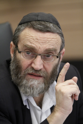 A 'mockery' of Judaism. MK Moshe Gafni (photo credit: Miriam Alster/Flash90)