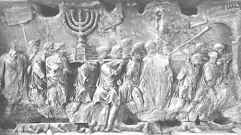 Time to move on? A scene from the Arch of Titus in Rome depicting the sacking of Jerusalem in 70 AD.