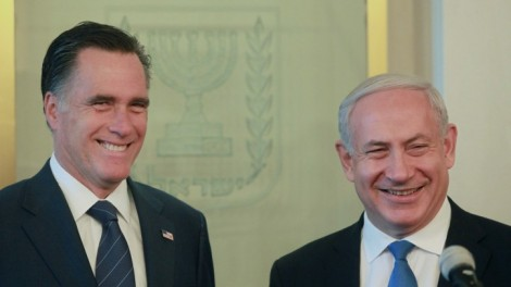 Can he walk the pro-Israel walk? Romney with Prime Minister Benjamin Netanyahu in Jerusalem (photo credit: Marc Israel Sellem/GPO/Flash90)