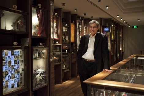 Orhan Pamuk at the Museum of Innocence in Istanbul (photo credit: courtesy Refik Anadol and the Innocence Foundation)