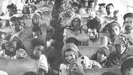 Yemenite Jews en route to Israel during Operation Magic Carpet (1949-1950)