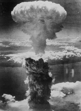 An atomic mushroom cloud rises over Hiroshima in 1945. Iran may be developing the capability to launch missiles with a far larger yield at Israel.