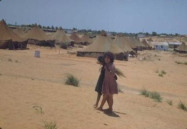 A Jewish girl from Yemen in the Beit Lid refugee camp in 1950