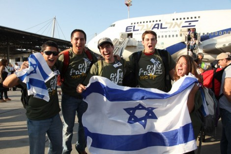 Young olim land in Israel in preparation for joining the army (photo credit: courtesy Nefesh B'Nefesh)