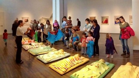 Children and parents from the Jerusalem International YMCA's Peace Pre-School at the Israel Museum (photo: courtesy)