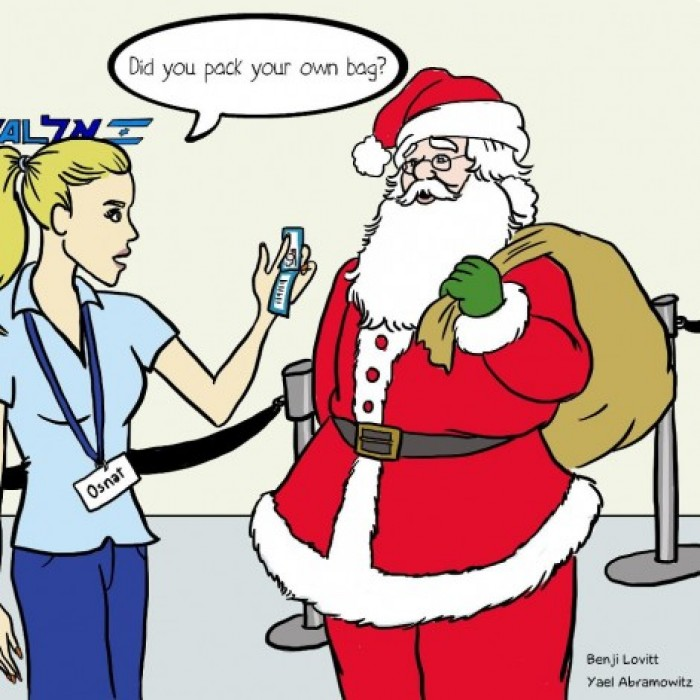 Santa security check (concept/art: Benji Lovitt/Yael Abramowitz)