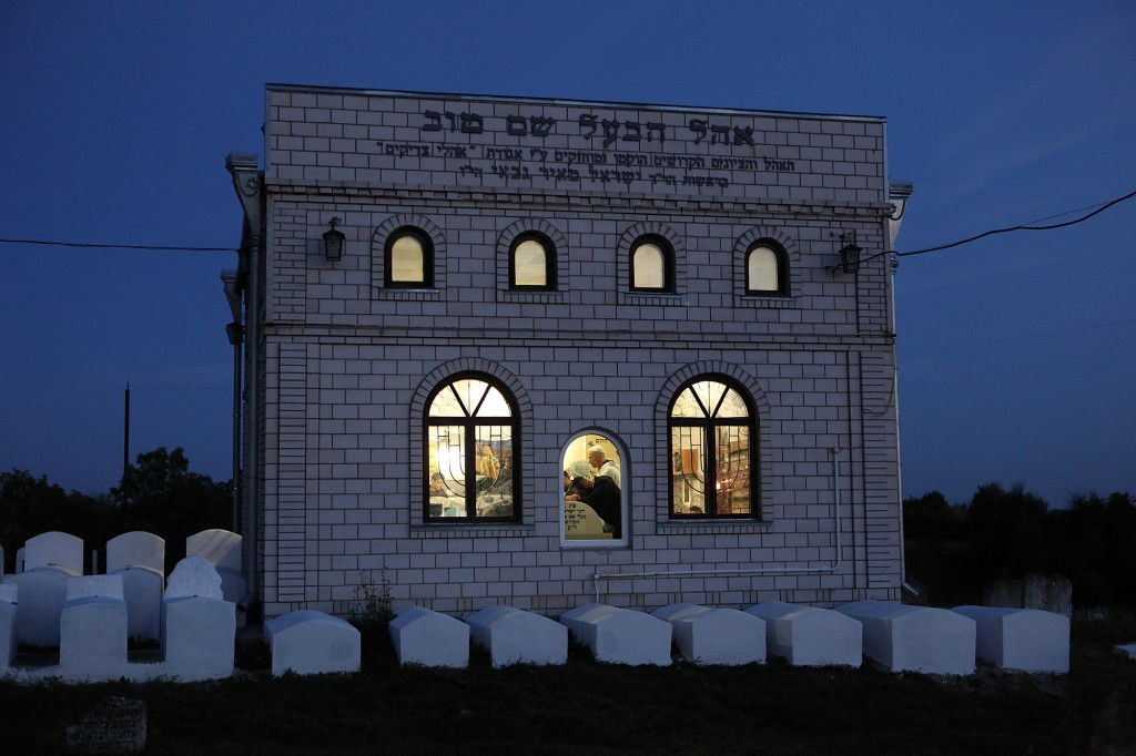 The synagogue of the Baal Shem Tov in Medzhybizh, Ukraine (photo credit: Yaakov Naumi/Flash90)